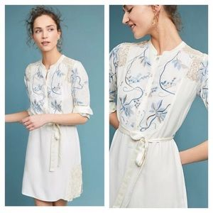 Tiny | Amarante Floral Embroidered Dress